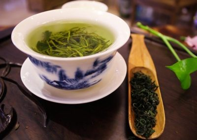 preparing green tea for immunity